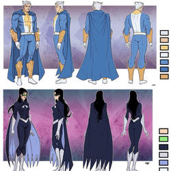 Sentinels of Earth Prime - Model Sheets by DenisM79