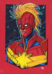 Captain Marvel by DenisM79