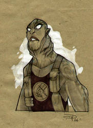 Abe Sapien's sketch by DenisM79