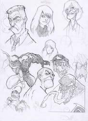 SpidermanSketches-year2004 by DenisM79
