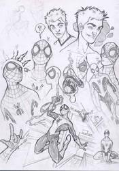 SpidermanSketches2-year2004 by DenisM79