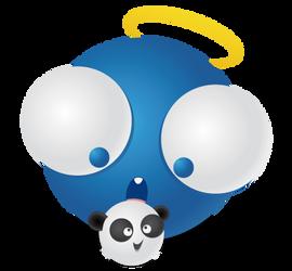 ID - Vector Timmy + Panda by JulienPradet