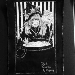 inktober 2018  Day 1 - poisuonous by HangpuyWitch