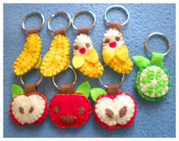 Fruity Felt Keychains by pookat