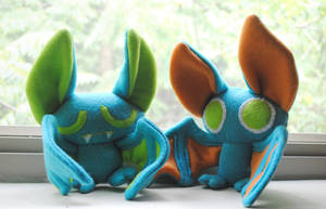 Sleepy and Wired Batty Plush by pookat