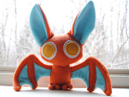 Orange Batty Plush by pookat