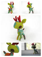 Space Stag Plush by pookat