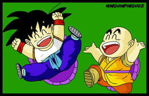 Goku y Krilin Dragon Ball by minguinpingu05