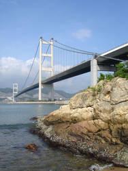 Tsing Ma Bridge in Hong Kong 4 by darksidehk