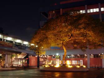 HK Science Museum at night by darksidehk