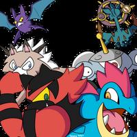 Pokemon Moon Team by Deggyart