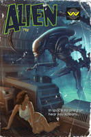 Alien Pulp Cover by TimothyAndersonArt