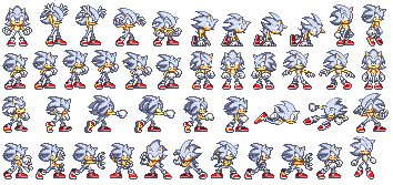 Mastered Ultra Instinct Sonic Sprite Preview by SKCollabs