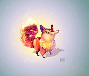 Fire fox by RusDar