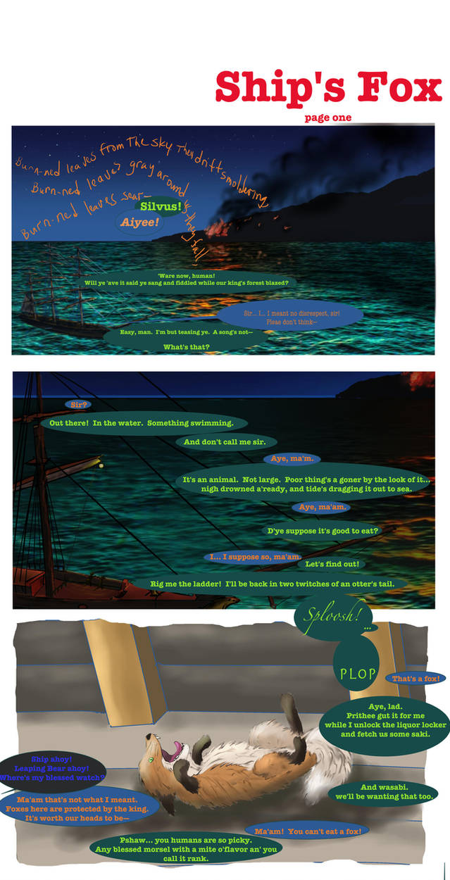 Ship's Fox page one 144dpi by songdawg