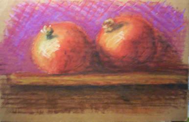 Pomegranates by drwhofan