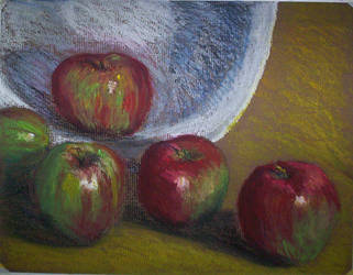 Apples and bowl by drwhofan