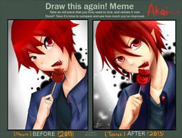 Draw this again !! : Akai by kiku-atama