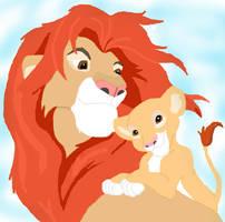 Simba and Kiara by Kenekochan01