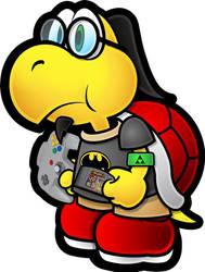 tai the nerdy Koopa by titushandcock