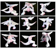 Palkia Papercraft by thepapersmith
