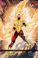 Firestorm Battle Artist  by comic-eeb