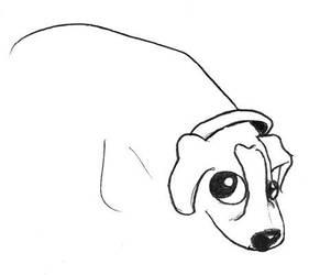 dog sketch by joseanderson