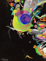 Colliding Nebulas by archanN