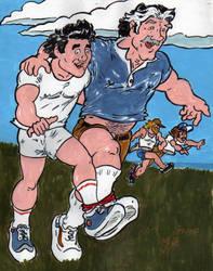 Labor Day 3 Legged Race by CManArt1