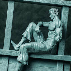 Guts resting ship - 3D print - by GVDigitalSculptor