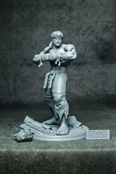 Battle Ryu ( resin statue ) by GVDigitalSculptor