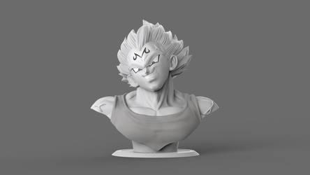 Majin Vegeta by GVDigitalSculptor