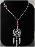 Red Hearted Dream - necklace by SaQe