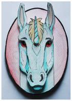 Commissions: 3D - Portrait - Unicorn by SaQe