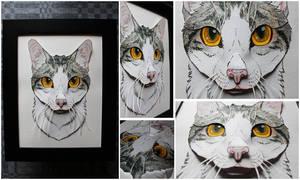 Commissions: 3D - Portrait - Gray petcat by SaQe