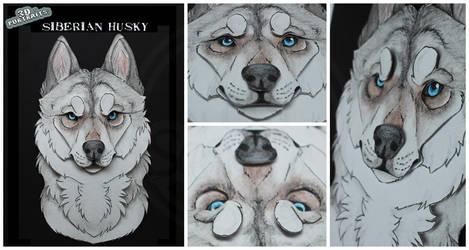 3D - Portraits: Siberian Husky by SaQe