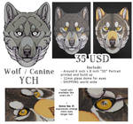 3D - Portraits: WOLF YCH by SaQe