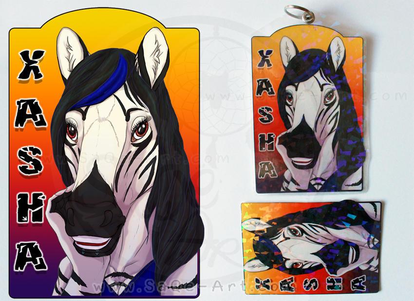 Commissions: Xasha - badge by SaQe