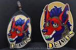 Commissions: Deimos - badge by SaQe