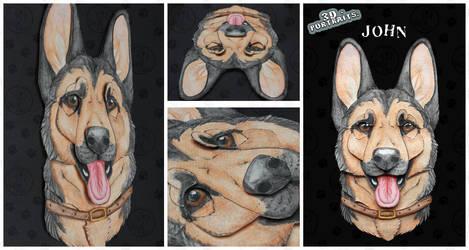 3D - Portraits: John by SaQe