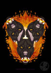 3D - Portraits: In flames by SaQe