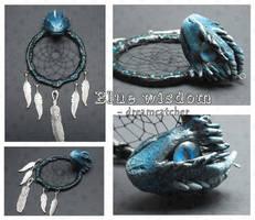 Blue Wisdom  - dream catcher by SaQe