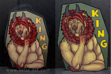 Commissions: King - badge by SaQe