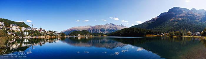 St Moritz lake by Nightline