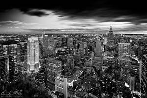 Magic skyline of New York bw by Nightline