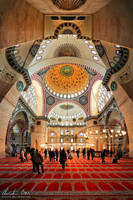 Istanbul, Sueleymaniye Mosque by Nightline