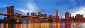 New York skyline at night 2 by Nightline