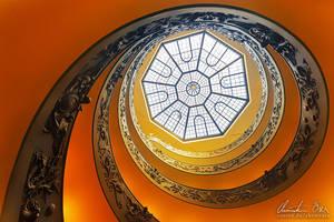 Vatican Stairs 3 by Nightline