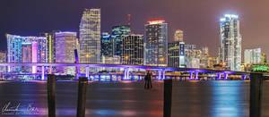 Miami Skyline Panorama 02 by Nightline