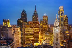 Philadelphia Skyline by Nightline